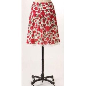 Anthro Anna Sui Russelliana floral skirt